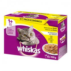 Whiskas Multipack Aves 12x100g 4 uds