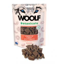 Woolf Botanicals Pavo Stripes with Tomate Snack para Perros 15uds